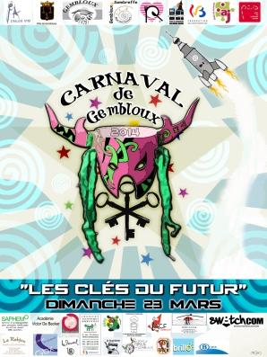 Affiche carnaval Gembloux 2014 version finale